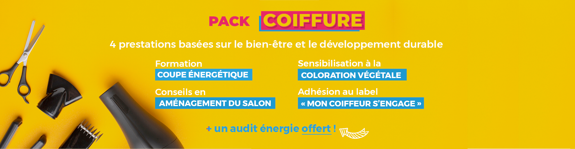Pack Coiffure CMA Ardèche 5 prestations